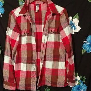 Patagonia red plaid shirt